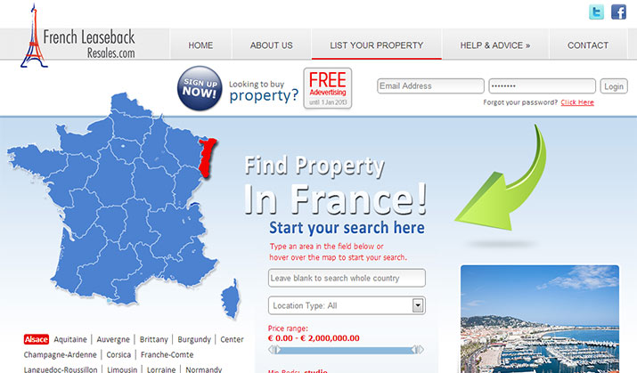 Property listing system